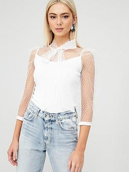 river-island-river-island-pussy-bow-organza-top-white