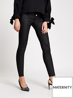river-island-maternity-over-bump-coated-molly-jeggings-black