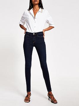 river-island-river-island-mid-rise-molly-jegging-dark-blue