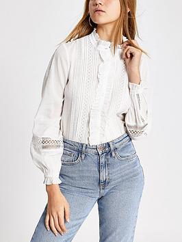 river-island-broderie-long-sleeve-shirt