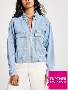 river-island-river-island-pocket-detail-zip-front-denim-jacket