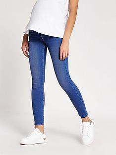 river-island-maternity-over-bump-molly-jeggings--nbspblue