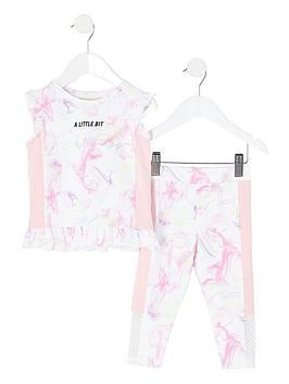 river-island-mini-mini-girls-active-fearless-legging-and-frill-top-set-white