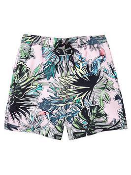 river-island-boys-leaf-print-swim-shorts--pink