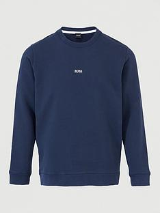 boss-weevo-centre-logo-sweatshirt-dark-blue