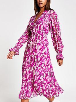 river-island-printed-smock-midi-dress-pink