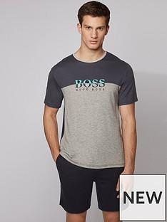 boss-bodywear-refined-colour-block-t-shirt-grey