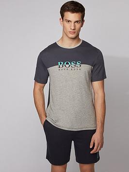 boss-bodywear-refined-colour-block-t-shirt-grey