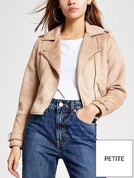 ri-petite-suedette-biker-jacket-brown