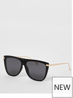 river-island-river-island-laid-on-lens-visor-sunglasses-black