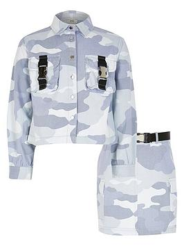 river-island-girls-camo-shacket-and-skirt-outfit-blue-camo