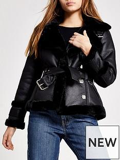 ri-petite-ri-petite-faux-shealing-belted-biker-jacket