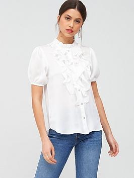 river-island-frill-shell-top-white