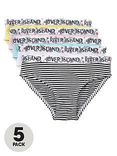 river-island-mini-mini-girls-5-pack-floral-stripe-knickkers-multi