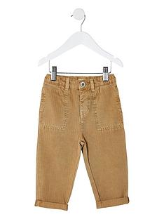 river-island-mini-mini-boys-herringbone-trousers-brown
