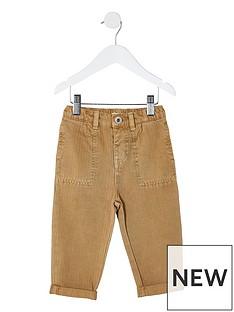 river-island-mini-mini-boys-herringbone-trousers-brown