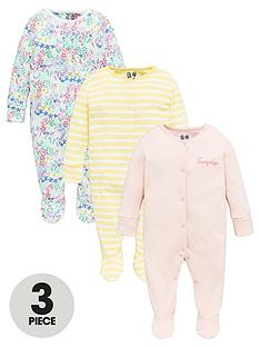 v-by-very-baby-girls-3-pack-ditsy-floral-stripe-sleepsuits-multi