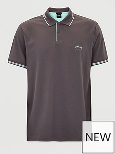 boss-paul-curved-logo-tipped-collar-polo-shirt-grey