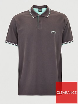 boss-paul-curved-logo-tipped-collar-polo-shirt-grey