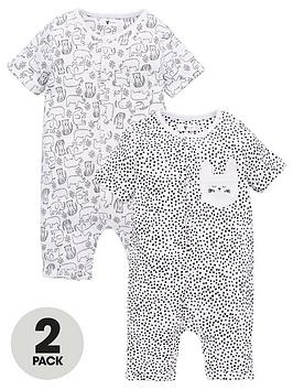 v-by-very-baby-unisex-elephant-rompers-black-white