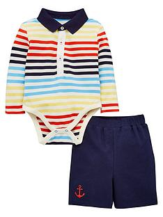 v-by-very-baby-boys-short-sleeve-stripe-polo-bodysuit-and-short-set-multi