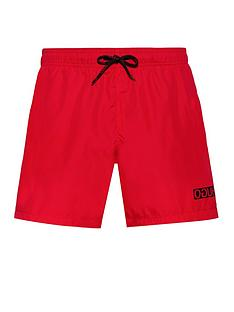 hugo-haiti-swim-shorts-red