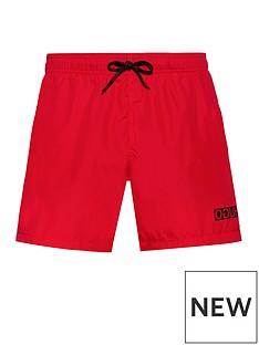 hugo-haiti-swim-shorts-red