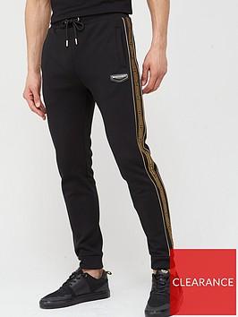 supply-demand-link-side-stripe-joggers-black