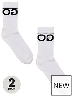 hugo-bodywear-2-pack-rib-logo-socks-white