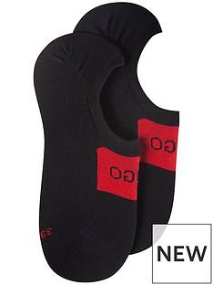 hugo-bodywear-2-pack-logo-trainer-liner-socks-black