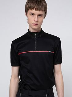 hugo-daxham-zip-polo-shirt