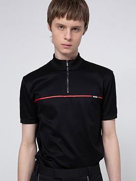 hugo-daxham-zip-polo-shirt