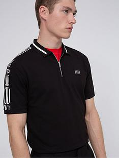 hugo-dolmar-zip-polo-shirt