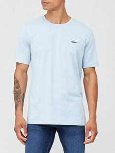 hugo-dero-small-logo-t-shirt-pastel-blue