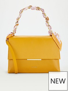 ted-baker-scarf-chain-bar-detail-shoulder-bag-yellow