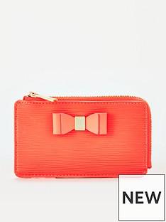 ted-baker-bow-detail-card-holder-orange