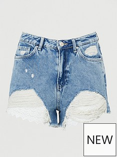 v-by-very-crochet-hem-denim-shorts-mid-wash