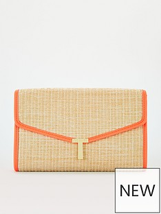 ted-baker-straw-t-clutch-orange
