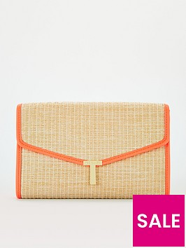 ted-baker-straw-t-clutch-orange