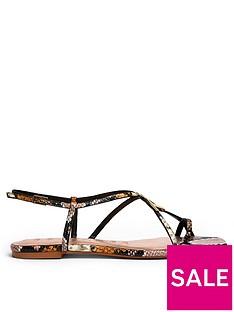 ted-baker-lerinas-embossed-snake-effect-flat-strappy-t-sandal-nude