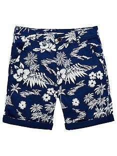 v-by-very-boys-floral-printed-shorts-navy
