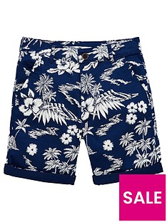 v-by-very-boys-floral-printed-shorts-navy