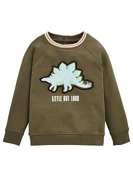 v-by-very-boys-embroidered-dino-sweat-khaki