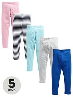 v-by-very-girls-5-pack-plain-andnbspstripe-leggings-multi