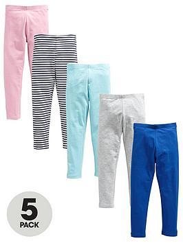 v-by-very-girls-5-pack-plain-andnbspstripe-leggings-multi