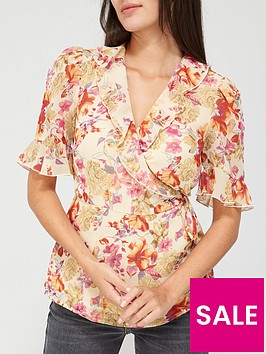 v-by-very-frill-wrap-georgette-blouse-pinkfloral