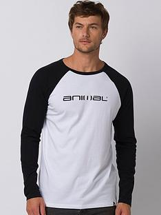 animal-long-sleeve-action-graphic-t-shirt-black