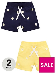 v-by-very-girls-2-pack-daisy-shorts-multi