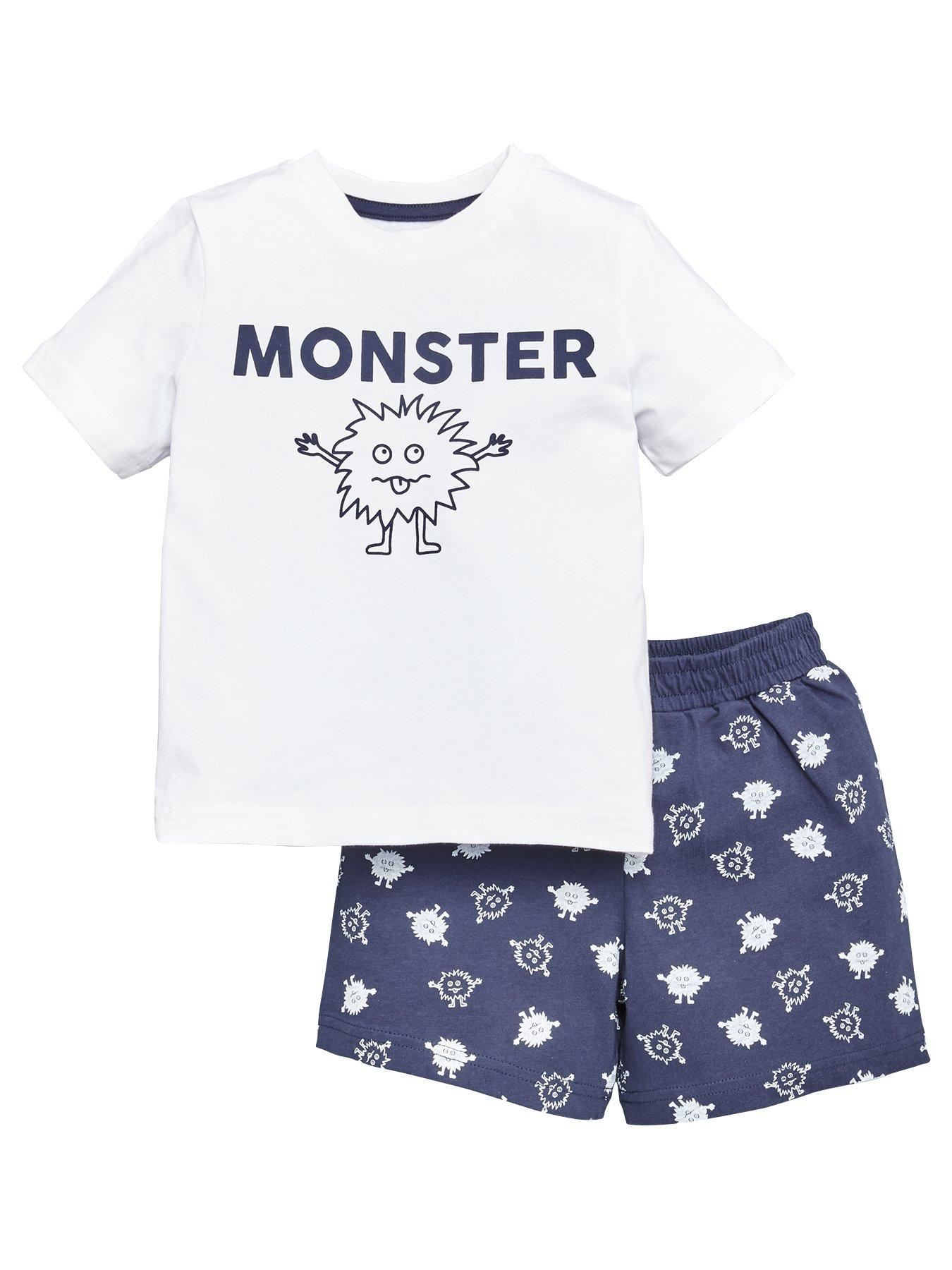 Boys Kids New York Summer Shorts and T-shirt Set 2-10 Years grey