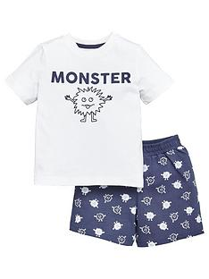 v-by-very-boys-fathers-day-monster-short-pyjamanbspset-navy